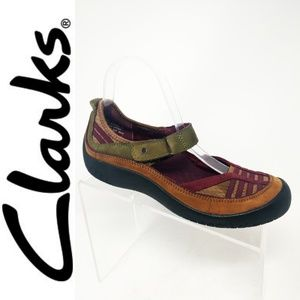 Privo Clarks Mary Jane Shoes Womens 8.5 Brown